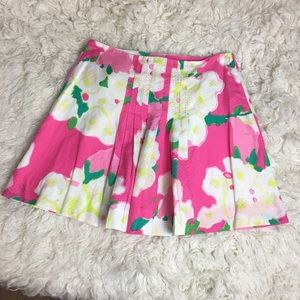 LILLY PULITZER hot pink floral skirt